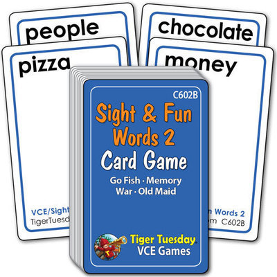 Card Game - Sight & Fun Words 2 (4 games in 1)