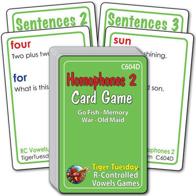 Card Game - Homophones 2 (4 games in 1)