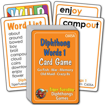 Card Game - Vowel Diphthongs - Set 1 (5 games in 1)