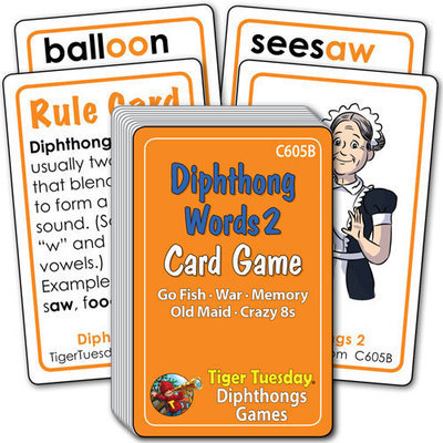 Card Game - Vowel Diphthongs - Set 2 (5 games in 1)