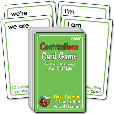 Card Game - Contractions (4 games in 1)