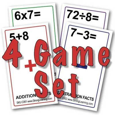 SPECIAL-4 Arithmetic Games-(Each is 4 games in 1)-SAVE $10