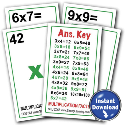 Multiplication Games - Download Version (4 games in 1)