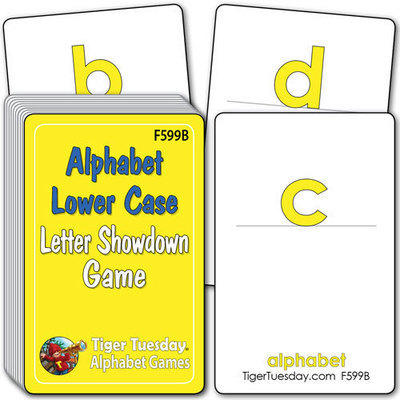 Flashcards/Letter Showdown Game - Alphabet - Lower Case Letters