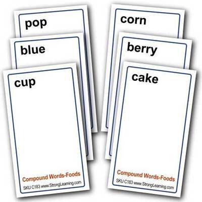 Compound Words for Foods -- 4-in-1 Card Game