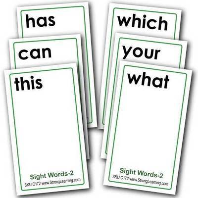 Sight Words 2 -- 4-in-1 Card Games