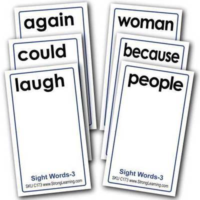 Sight Words 3 -- 4-in-1 Card Games