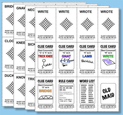 Phonics Games - Silent Consonants KN, CK, GN, MB, WR, and DG