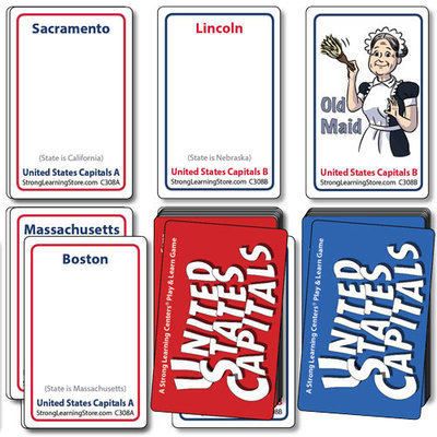 United States Capitals Card Game - Two Decks (4 games in 1)
