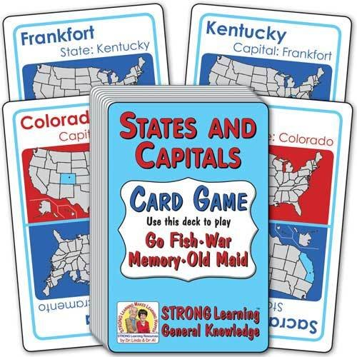 States and Capitals Card Game