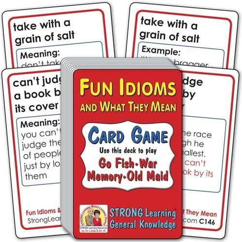 Fun Idioms and What They Mean Card Game