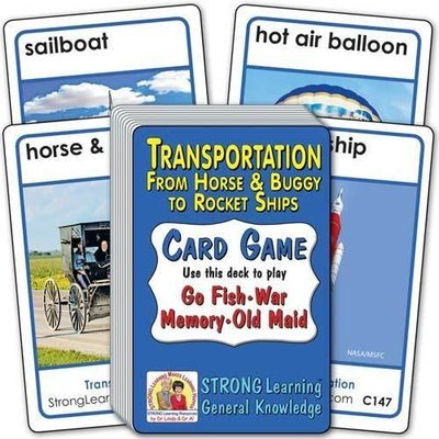 Transportation: From Horse & Buggy to Spaceships Card Game