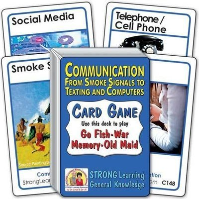Communication: From Smoke Signals to Texting and Computers Card Game