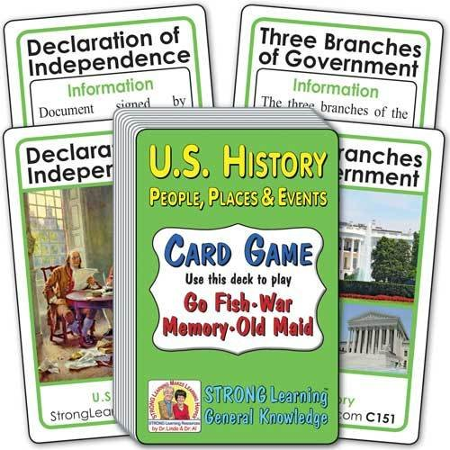 U.S. History: People, Places & Events  Card Game