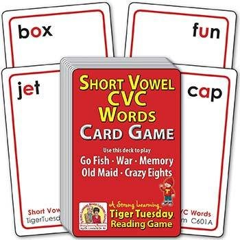 Short Vowel 3-letter CVC | Ages 5-6+