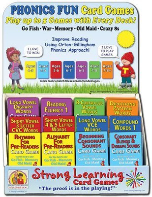 PHONICS FUN Game Assortment with Rack (For Resellers)