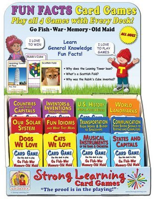 General Knowledge FUN FACTS Card Game Assortment - with Rack (For Resellers)