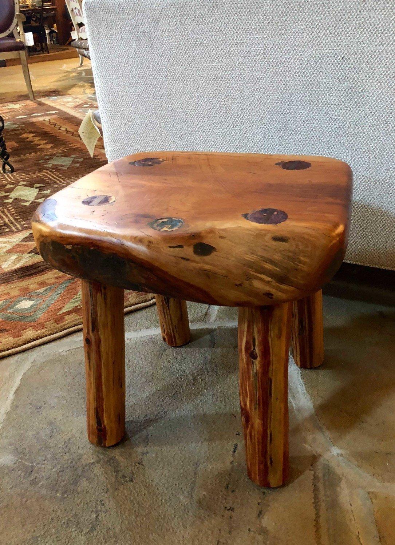 Superb Jerry Poole Cherry Four Legged Short Stool Ibusinesslaw Wood Chair Design Ideas Ibusinesslaworg