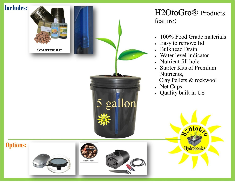 Complete kit: # 05 1-site DWC Bucket