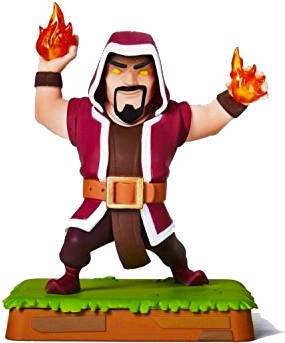 Wizard Level 6 Clash of Clans Rare Figure by Supercell  Clash