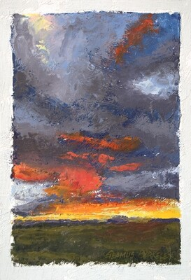 'Sun Setting on the Mesa' Painting