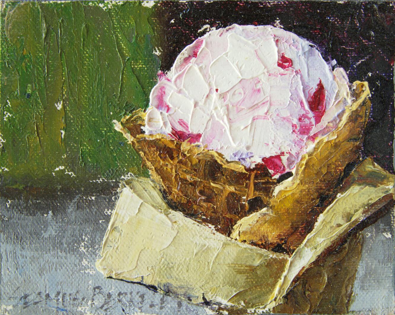 'Raspberry Goat Cheese Ice Cream' Painting