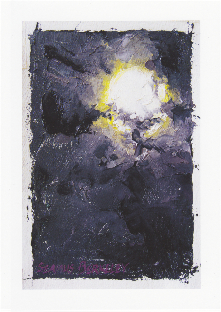 'Full Moon behind Clouds' Notecard