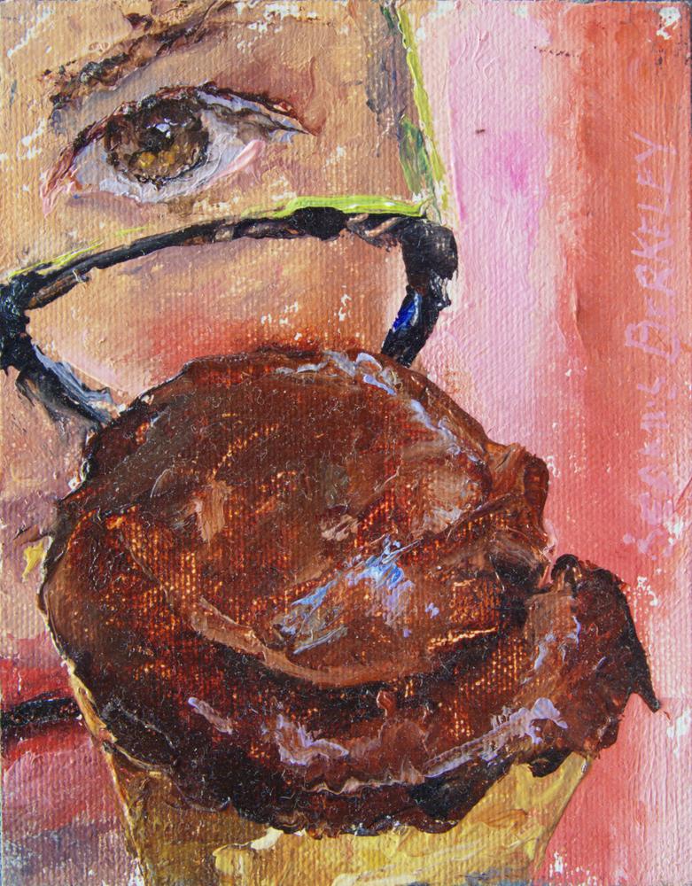 'Eyeing Chocolate Sorbet' Painting