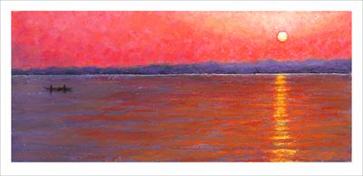 'Varanasi Sunrise' Print