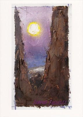 'Full Moon in Tree, Taos' Notecard