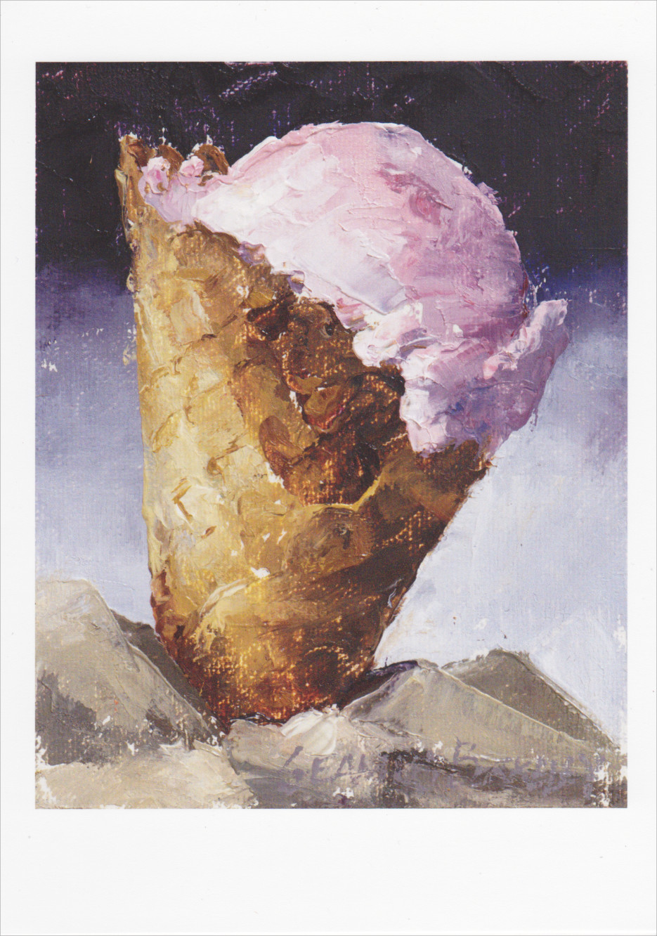'Strawberry Ice Cream' Notecard