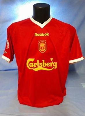Liverpool  Maglia Casa Jersey Home 2001 2002  Versione Champions League REDKNAPP TAGLIA L SIZE L PRONTA CONSEGNA CONSEGNA