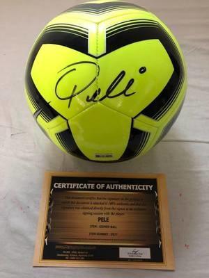 PALLONE PELE   Autografato Signed + COA BALL PELE  SIGNED  Autografato Signed