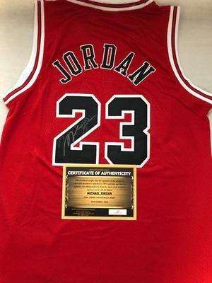 Michael Jordan 23 Maglia Autografata Signed Autografata Signed 23 Michael Jordan COA certificate Jersey Signed Maglia Nba Signed Michael Jordan
