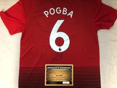 Manchester United Replica Autografata Jersey Signed From Paul Pogba Man Utd Pogba