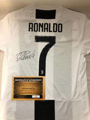 Maglia Replica Juventus Maglia Casa 2018 2019 Autografata CR7 CRISTIANO RONALDO Signed wich COA certificate Juventus CRISTIANO RONALDO CR7 Signed 2018 2019