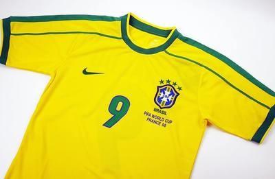 BRASILE   MAGLIA CASA FINAL 1998  JERSEY HOME BRAZIL FINALE 98