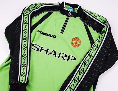 MANCHESTER UNITED 1998  1999  MAGLIA PORTIERE JERSEY GOALKEEPER 98 99