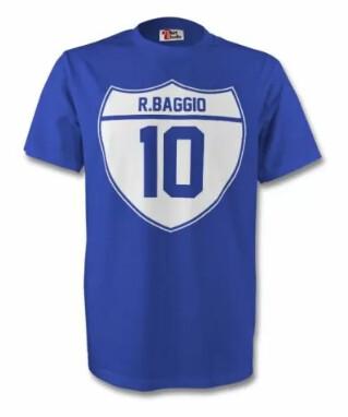 ITALIA MAGLIETTA T SHIRTS ADULTO BAMBINI RAGAZZI ITALY ROBERTO BAGGIO
