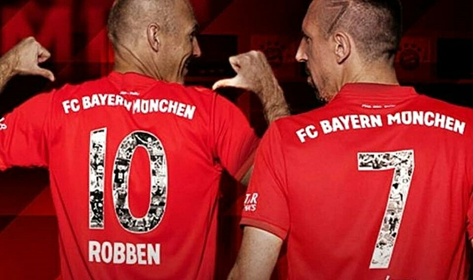 BAYER MONACO LAST SEASON RIBERY ROBBEN BAYER MUNICH  2018 2019