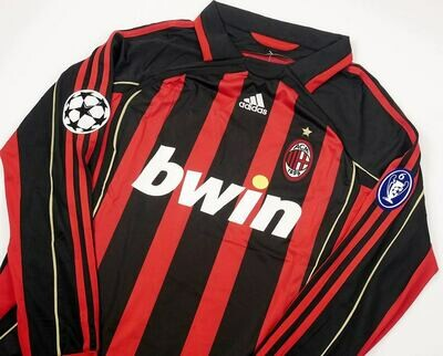 MILAN CASA JERSEY HOME 2006 2007 CHAMPIONS SERIE A MANICHE LUNGHE LONG SLEEVES