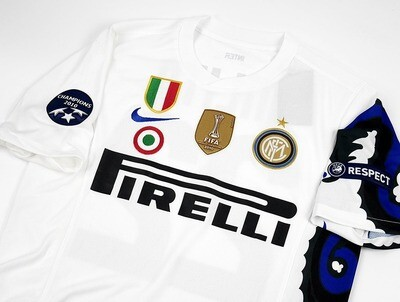 INTER MAGLIA TRASFERTA JERSEY AWAY DRAGON DRAGONE 2010 2011 ALL PATCHES