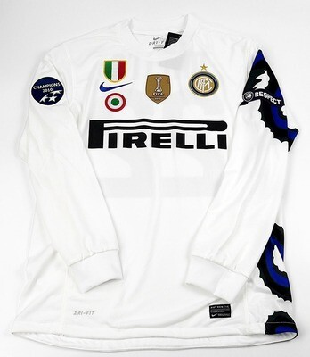 INTER MAGLIA TRASFERTA JERSEY AWAY DRAGON DRAGONE 2010 2011 ALL PATCHES MANICHE LUNGHE LONG SLEEVES
