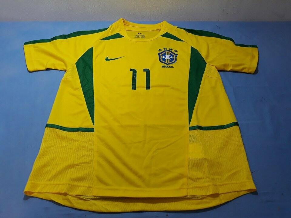 BRASILE   MAGLIA CASA JERSEY HOME WORLD CUP 2002 KOREA