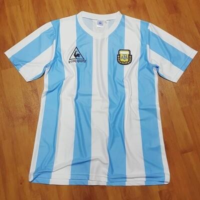 ARGENTINA WORLD CUP 1986 MAGLIA CASA JERSEY HOME MONDIALI 1986