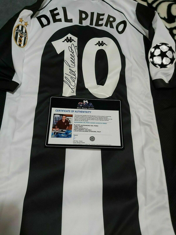 Maglia JUVENTUS Maglia Casa 1997 1998  Alessandro Del Piero 10 Autografata Signed wich COA certificate Juventus Jersey Home 1997 1998 Del Piero  Signed with coa