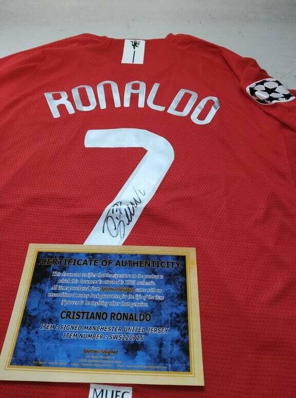 Maglia Manchester Untied Maglia Casa FINALE CHAMPIONS 2008 MOSCA Autografata CRISTIANO RONALDO 7 Signed with COA certificate MAN UTD MANCHESTER UNITED RONALDO Signed FINAL CHAMPIONS LEAGUE 2008