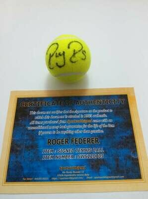 Pallina Tennis ROGER FEDERER   Autografata  Signed ROGER FEDERER RF with COA certificate of authenticity