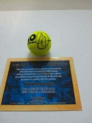 Pallina Tennis NOVAK DJOKOVIC  Autografata  Signed NOVAK DJOKOVIC  with COA certificate of authenticity