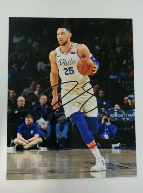 FOTO Ben Simmons Philadelphia Autografata Signed + COA Photo Ben Simmons Philadelphia Autografato Signed